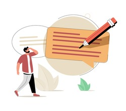 Advice or support consultation for questions and problem tiny person concept. Professional expert, mentor and adviser with answer speech or text vector illustration. Knowledge share and assistance.