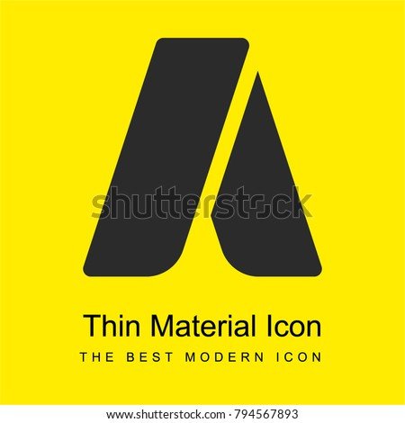 Adwords bright yellow material minimal icon or logo design