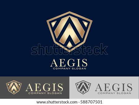 aegis logo template design