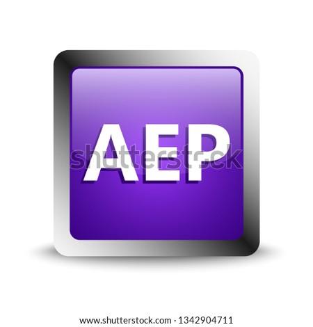 aep format icon. vector illustration