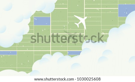 Aerial view scenery landscape, aerial view of airplane flying over farm fields
