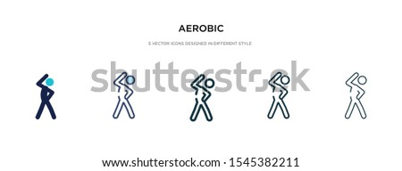 aerobic icon in different style vector illustration. two colored and black aerobic vector icons designed in filled, outline, line and stroke style can be used for web, mobile, ui