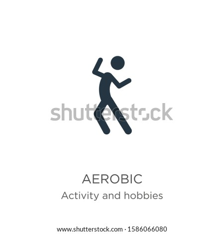 Aerobic icon vector. Trendy flat aerobic icon from activities collection isolated on white background. Vector illustration can be used for web and mobile graphic design, logo, eps10