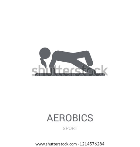 aerobics icon. Trendy aerobics logo concept on white background from Sport collection. Suitable for use on web apps, mobile apps and print media.