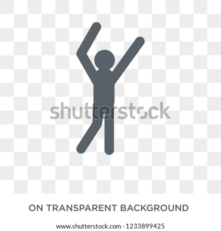 aerobics icon. Trendy flat vector aerobics icon on transparent background from sport collection.