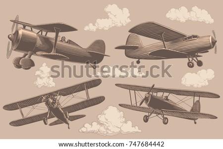 aeronautics. design set. hand...