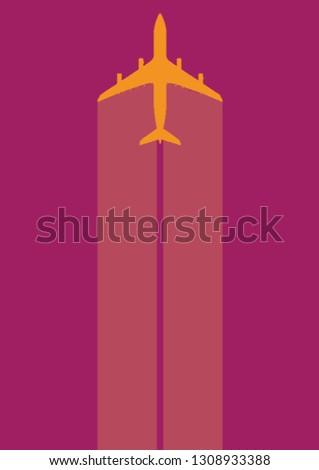 aeroplane, illustration, simple