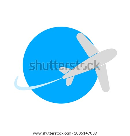 aeroplane symbol isolated, vector airplane, travel icon - airline flight illustration