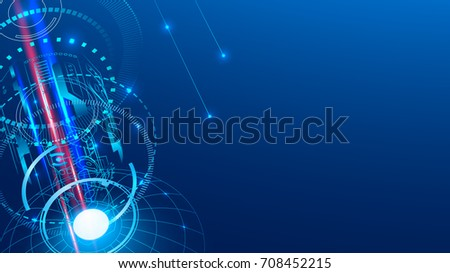 Aerospace communications abstract background. VECTOR