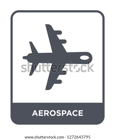 aerospace icon vector on white background, aerospace trendy filled icons from Astronomy collection, aerospace simple element illustration