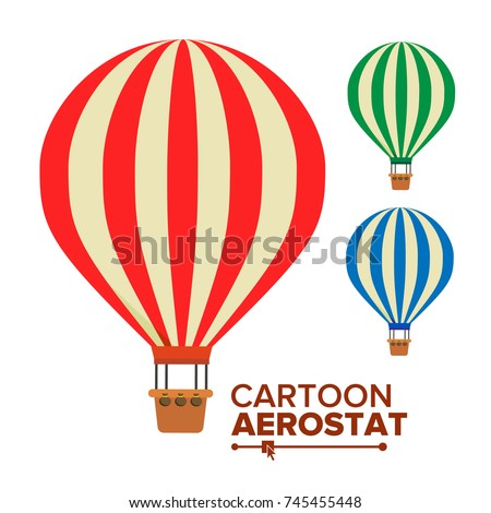 Aerostat Balloon Vector. Vintage Transport. Hot Air Balloons. Cartoon Flat Isolated Illustration