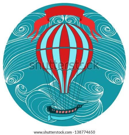 aerostat vector illustration