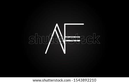 AF or FA initial based letter icon logo Unique modern creative elegant geometric fashion brands black and white color Stock fotó ©