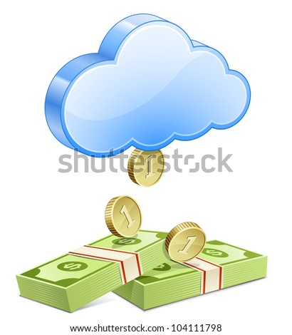 Affiliate marketing concept. Making money from the cloud