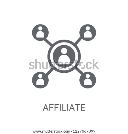 Affiliate marketing icon. Trendy Affiliate marketing logo concept on white background from Technology collection. Suitable for use on web apps, mobile apps and print media.