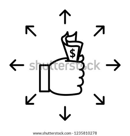 Affordability icon, vector illustration