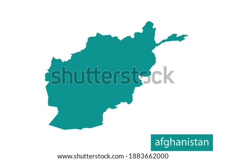 afghanistan map green color on