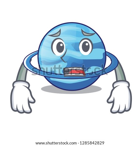 Afraid planet uranus in the cartoon form