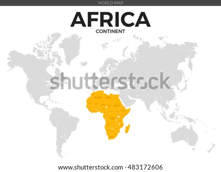 Grayscale vector worldmap download free vector art stock africa continent location modern detailed vector map all world countries without names vector template gumiabroncs Gallery