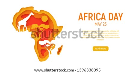 africa day decorative 3d paper