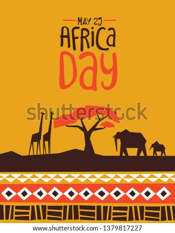 africa day greeting card