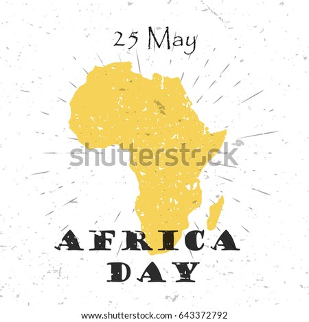 africa day  25th of may concept ...