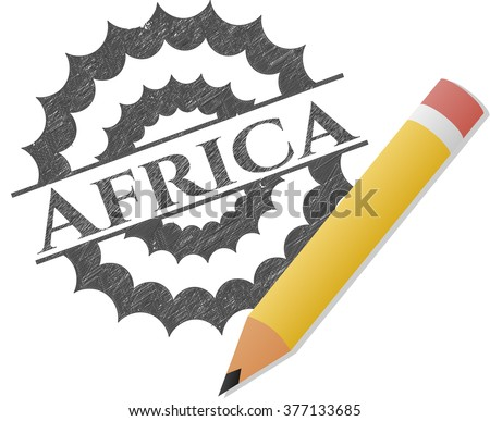 Africa draw with pencil effect