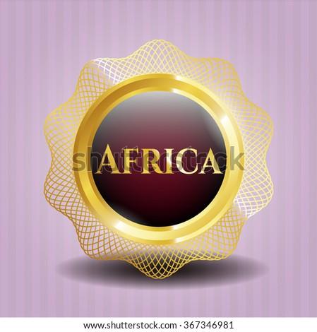 Africa gold badge or emblem