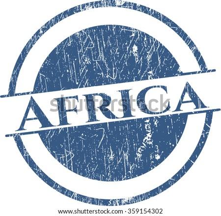 Africa grunge seal