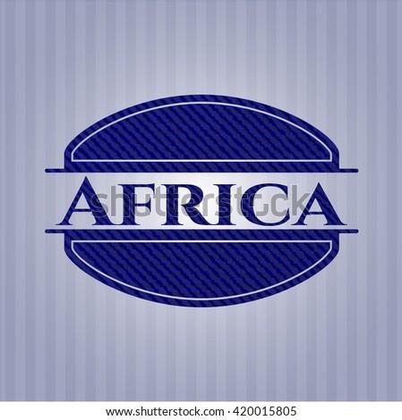 Africa jean or denim emblem or badge background