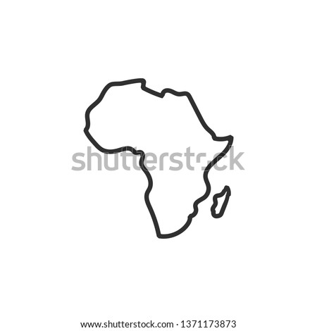 Africa map icon. isolated on white background. Vector illustration.