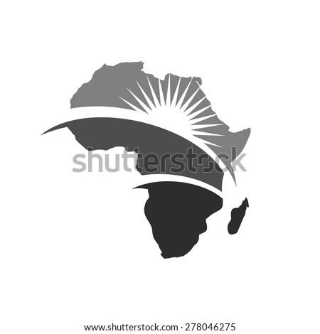 africa map logo template