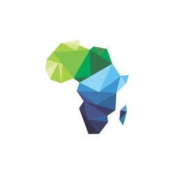 africa map low poly design