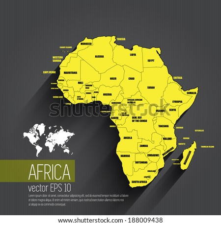 Map Vector Of Africa - African map