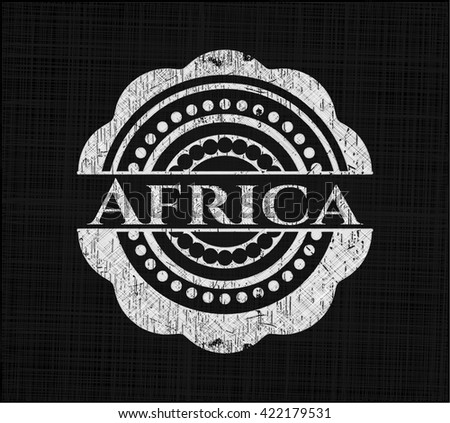 Africa on blackboard