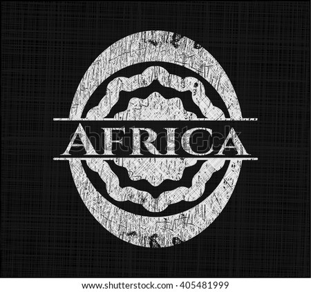 Africa on chalkboard