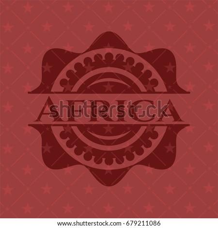 africa red emblem. vintage.