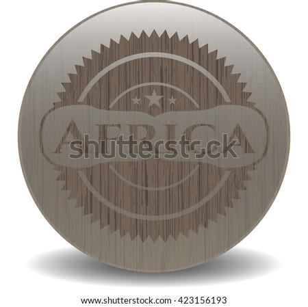 Africa retro style wooden emblem