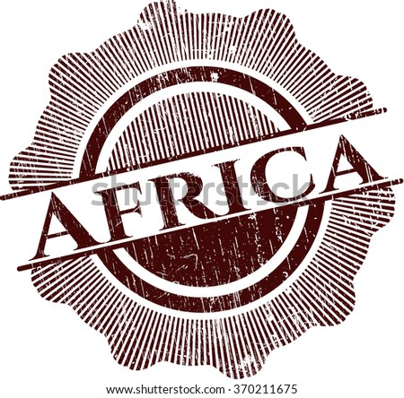 Africa rubber stamp with grunge texture