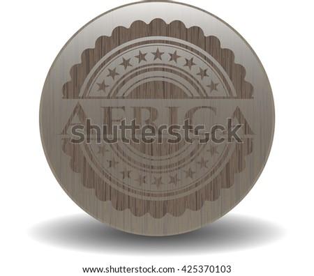 Africa wood emblem. Vintage.