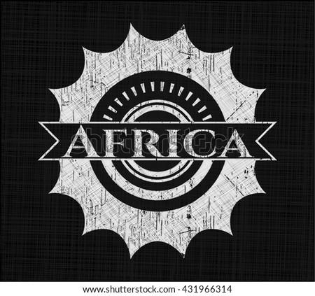 Africa written on a blackboard