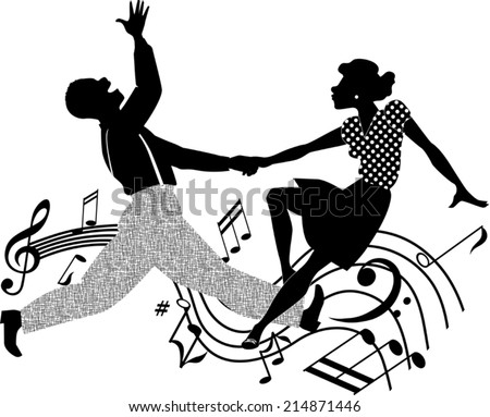 african american couple dancing
