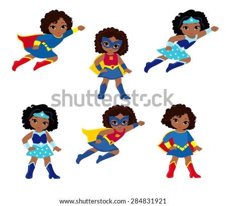 african american cute superhero