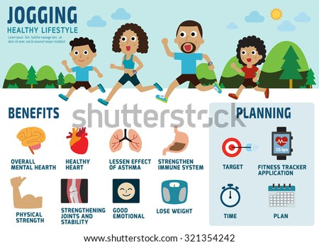 african american family jogging.healthcare concept.benefits of running icon.isolated on white background.