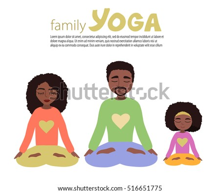 african american family yoga