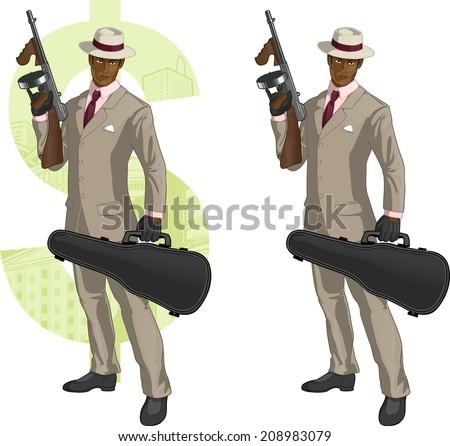 african american mafioso retro