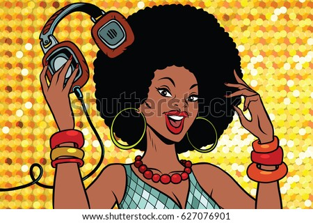 african american woman dj with