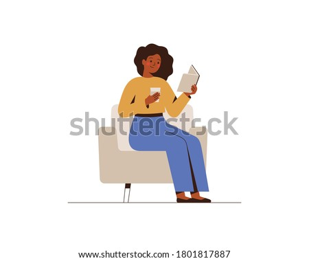 african american woman reads