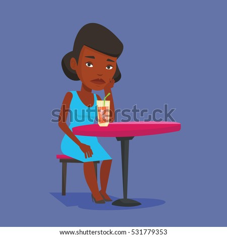 african american woman sitting