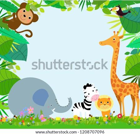 African Animals Frame